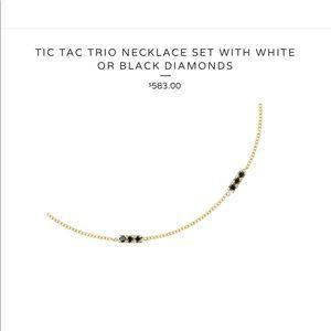 $585 black diamond 14k gold necklace Hortense